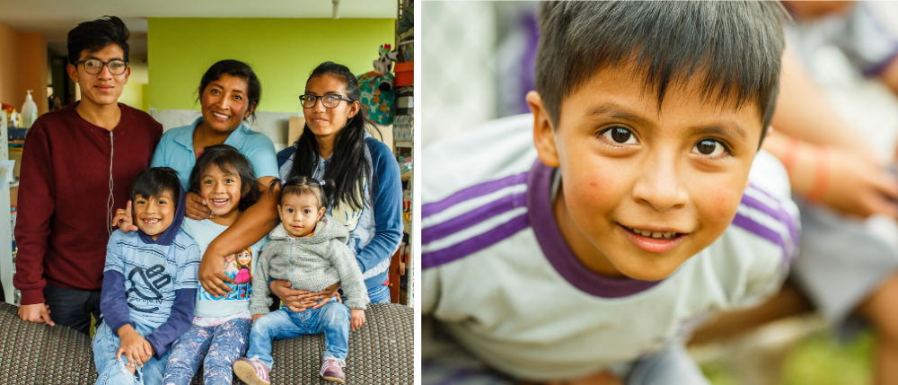 Ecuador families collage