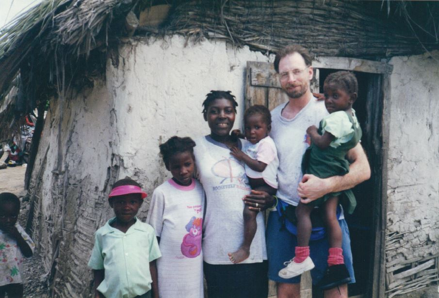 Dan with sponsored child 23 years ago